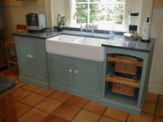 Amazing Blue Wash Stand Free Standing Kitchen Sink White Sink