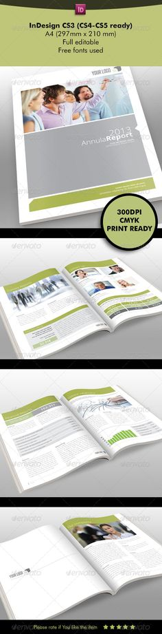 Annual Report Indesign Brochure More Annual reports, Brochures - free annual report templates