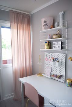 Room Design Bedroom, Room Ideas Bedroom, Kids Room Design, Bedroom Decor, Home Office Space, Home Office Design, Home Office Decor, Desk For Girls Room, Teen Girl Rooms