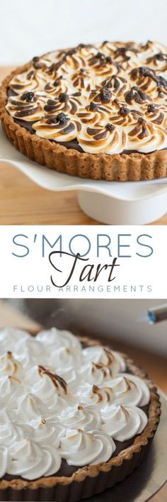 This s'mores tart's decadent graham cracker-inspired crust holds a thick layer of chocolate ganache topped by homemade marshmallow fluff. This recipe takes traditional campfire s'mores to a whole new level.