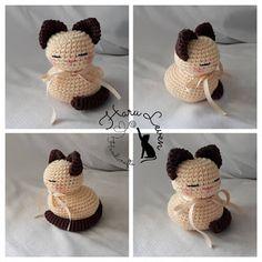 Ravelry: Cats are liquid pattern by Harumi Sato Levenhagen Gato Crochet, Crochet Cat Toys, Crochet Cat Pattern, Afghan Crochet Patterns, Crochet Animals, Amigurumi Patterns, Crochet Dolls, Free Crochet, Crochet For Kids