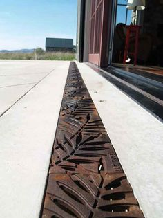 Iron Age Raw Cast Iron Dura Slope Locust Grate The Drainage Products Store - Eisenzeit Rohgusseisen Drainage Grates, Outdoor Spaces, Outdoor Living, Landscape Design, Garden Design, Drainage Solutions, Drain Cover, Floor Drains, Iron Age