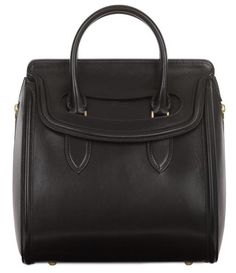 Chic Black Leather Tote