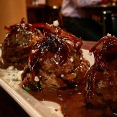 amazing meatballs from the happy hour menu at District Chop House in Washington DC.