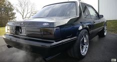 Ksdnotch 1993 foxbody notchback factory black on black with 2004 Terminator Cobra swapped 1993 Ford Mustang, Mustang Lx, Fox Body Mustang, Ford Mustangs, Mustang Cars, Crazy Cars, Weird Cars, Notchback Mustang, Black Exterior
