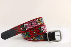 Handmade woven belt created on wooden-manual loom. Pattern of Thracian traditional female outfit. The belt is entirely decorated from particular designs all embroidered. Woven Belt, Loom, Design Art, Manual, Hand Weaving, Traditional, Clothes For Women, Female, Outfit