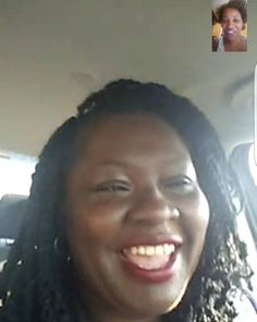 What do you do when you have a lady so excited and proud of herself for trying the tips from our ONLINE makeup class that she video calls you??? You answer.....with my duster on & all! Lol