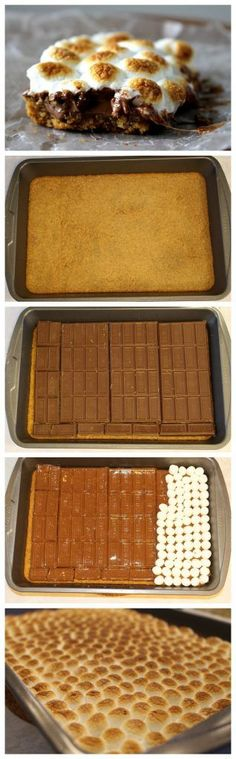 s'mores bars - Indoor s'mores - chocolate, marshmallow and graham cracker easy delicious dessert