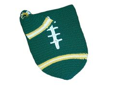 Green Bay Packers Baby Football Cocoon & Hat (Newborn to 3 months) on Etsy, $40.00