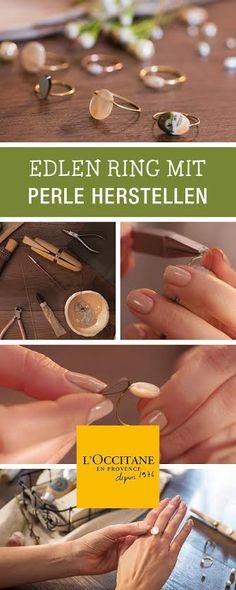 Schöne und gepflegte Hände werden mit handgemachtem Schmuck besonders in Szene gesetzt: DIY-Anleitung für einen Ring mit Perle von L'Occitane / diy inspiration for a jewellery tutorial via DaWanda.com