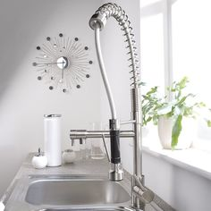 Order on July 16: Hudson Reed Brushed Nickel Plated Spring Kitchen Faucet - Hudson Ree  $189. Description from pinterest.com. I searched for this on bing.com/images