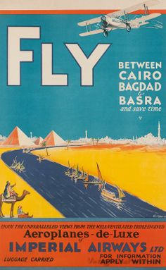 Fly Imperial Airways between Cairo, Bagdad and Basra