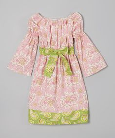 As fresh and breezy as a summer's day, this charming cotton frock is especially easy to wear thanks to its elastic hems and adjustable sash. Contrast trim adds a modern twist to this timeless look.