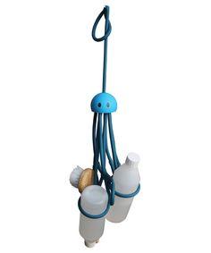 Blue Octopus Shower Storage