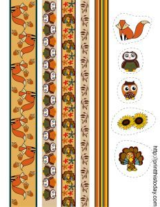 Today I created 12 free printable fall washi tapes, or thanksgiving washi tapes and a few stickers that you can use to decorate your planners, journals