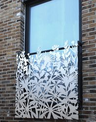 Side view of laser cut wood panel designed for this for Decoration murale ginkgo