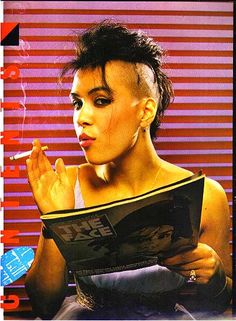 """Annabella Lwin from Bow Wow Wow.  Discovered at the age of 13 by Malcom McLaren- their song """"I Want Candy"""" is one of the most recognizable tunes from the 80's.... and she was 13!!!!!"""