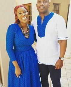 Makoti In Blue Basotho Blanket and Shweshwe Dress for 2019 - Fashionre Shweshwe Dresses, African Attire, Mermaid Dresses, Looking Gorgeous, African Fashion, Blue Dresses, Shirt Dress, My Style, African Patterns