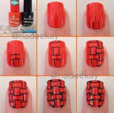 Red Nails Tutorial | Diy Nails | Nails Tutorials
