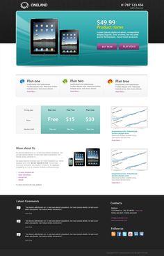 ONELAND Landing page on Web Design Served