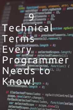 technical terms computer science