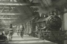 Shrewsbury railway station during the age of steam. Steam Railway, Train Times, Steam Locomotive, Train Station, British, Boat, Family History, Places, Trains
