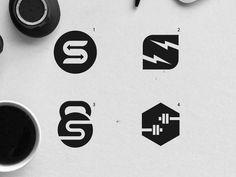 fitness logo design Gym logo design options by Emir Kudic