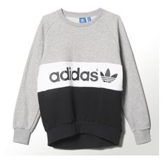 Adidas City Tokyo Sweatshirt ❤ liked on Polyvore featuring tops, hoodies, sweatshirts, adidas, french terry sweatshirt, adidas sweatshirt, white sweatshirt and white top