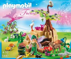 Any additional Playmobil with animals  / or imaginary animals.: Playmobil Fairies Healing Fairy Elixia in Animal Forest 5447: Toys  Games