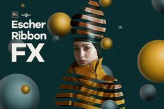 Cover Image For Escher Ribbon FX Photoshop Add-On Extension