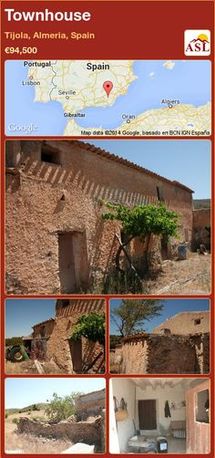 Townhouse for Sale in Tijola, Almeria, Spain with 4 bedrooms - A Spanish Life Townhouse, Pergola, Spanish, Farmhouse, Outdoor Structures, Water, Plants, Life, Beautiful