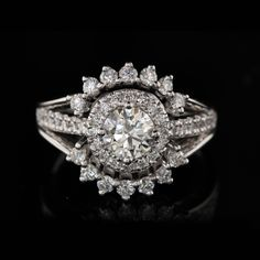 """The design was made with Lee's words in mind. The two sides that """"embrace"""" the centre Halo symbolise this lady and Lee coming together to form one family. Halo Diamond, Diamond Rings, Engraved Rings, Designer Engagement Rings, Handwriting, Ring Designs, Closer, Hug, Heart Ring"""