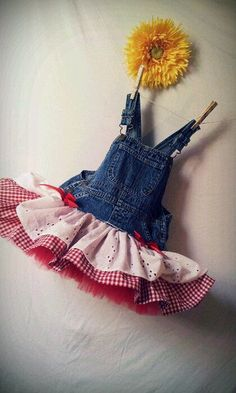 toddler denim overalls red and white gingham - Google Search