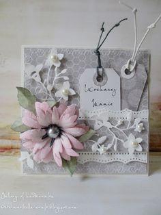 Gallery of handicrafts: Kochanej Mamie - róż z szarością