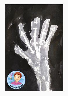 Röntgenfoto's maken met kleuters, kleuteridee