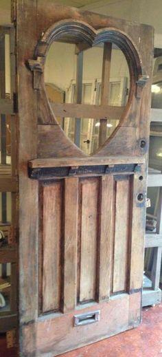Old Door...with heart shaped window.