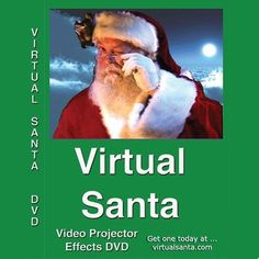 "THE ORIGINAL VIRTUAL SANTA - 2002 DVD    This is the Original Virtual Santa that was created in 2002 in DVD format.     Virtual Santa DVD has been featured on England's ""Kings of Christmas Lights show"" and on ABC's The Great Christmas Light Fight show, 2013 - 2015!    Now you can have this special effect right in your own home! Just play it on your DVD player that is plugged into a video projector or large television screen and Santa appears in your window!    Santa come into the room with…"