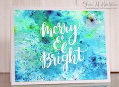 Frankie Helps Craft, Toni M Maddox, handmade CAS holiday card, Christmas, Brushos, Mama Elephant