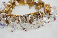Vintage D & E Juliana Rhinestone Crystal Gold Tone by EtsyClassic, $120.00