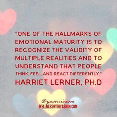 Open your mind. Not everyone needs to agree with you. Not everything is black and white. Thanks Harriet Lerner. :) Btw if this sounds like the kind of emotional mastery you're into check out my 3 month class Emotional Freedom Mastery for Highly Sensitive Women. You get to pick your own tuition ($19 $29 $39) based on your situation. Learn more at http://ift.tt/2bzitn6 You can also sign up for next Wednesday's free open house to learn more about the class as well as others #wellnesswithyasmin…