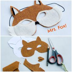 this adorable (diy) fox mask..