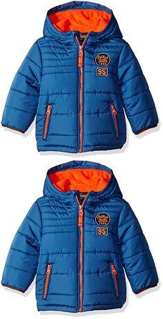 Osh Kosh Boys' Infant Classic Heavyweight Solid Puffer Coat, Blue, 18 Months