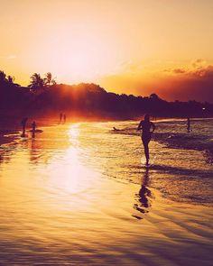 Noosa Main Beach at sunset, Australia