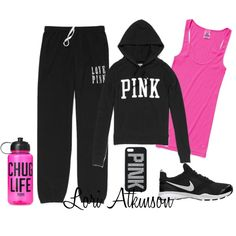 This Be A Hourglass And I Guess A Accented Neutral Because It's Kind Regular Clothes For A Women Thta;s It's Going Run When It's Kind Cold And The Sweats Are Black And The Sweater And The Shirr Pink And I Like The Sweats Because It Has Something A Letter On It!