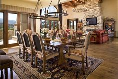 Saint Lucia Preserve Real Estate Property:  16 Vasquez Trail, Carmel, CA 93923  The Dining Area is Open to the Chefs Kitchen and Great Room