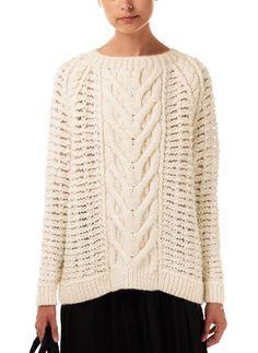 Ulla Johnson Cable Rune Sweater