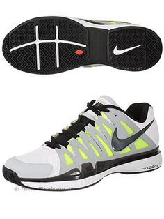 Nike Vapor 9 Tour Men's Tennis Shoe    Pro Tour level shoes worn by 16-time Major Champion Roger Federer. Amazing feel, great fit and traction, and more importantly very light!
