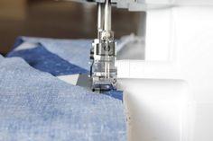 Make It Handmade: Serger Tip: Piecing Strips on the Diagonal