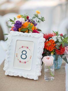 Mesa de boda / números