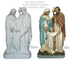 Holy Family restored and painted.